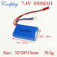 Free Shipping 2pcs/Lot wl v912 v262 7.4V850mah battery  for wl toys v912 2.4G  4ch single metal helicopter /WL V262 battery