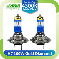 Xenon H7 12V 100W 4800k Gold Diamond Replacement for Top Fashion Power Car Headlight Halogen Auto lamp Free Shipping