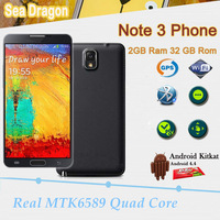 "2G Ram 8G Rom HDC Note3 Note 3 Note iii Phone 5.7"" 1920*1080 Android 4.4 Kitkat 13MP Camera MTK6589 Quad Core Smart Phone"