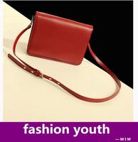 Freeship lady's solid pu leather samll shoulder bag brand designer handbag crossbody bag vintage square messenger for women
