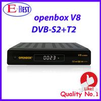 New arrival Openbox v8 combo DVB-S2 +DVB-T2 satellite receiver Openbox V8 COMBO support by IPTV free shipping by post