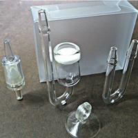 Free Shipping A Set of Aquarium CO2 Diffuser Check Glass Tube Suction Cup for Fish Tank Aquarium
