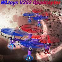 WL v252 quad copter 8CM Big 2.4G 6.5CH 6-Axis GYRO wltoys v252 Quadcopter  mini UFO Outdoor VS Parrot AR.Drone JXD385 H107L