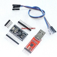 Free Shipping 2PCS=1LOT CP2102 Module + 1PCS Pro Mini Module Atmega328 5V 16M For Arduino Compatible With Nano
