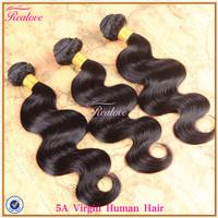 "peruvian virgin hair body wave 3pc 8""-30"" free shipping cheap peruvian hair extension remy human hair peruvian body wave Realove"