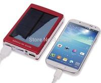 50000mAh Solar portable charger External Battery Power Bank foripad iphone Samsung+1pcs USB cable+4pcs Interface Converter