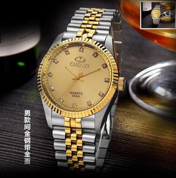 Военные сапфир мужчины из нержавеющей стали часы коммерческая роскошные нержавеющей стали водонепроницаемый винтаж мужчины кварцевые часы