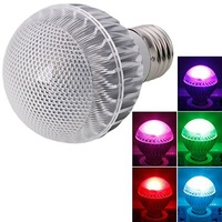 Free shipping ,New arrival 5W E27 high quality RGB LED bulbs  with 16key IR remote control