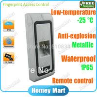 Remote Control UTC2 Waterproof Metal Housing AntiExplosion Fingerprint Access Control With -25Degree Low Temperature Resistance