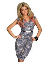 8 Colors M XXL Plus Size 2014 New Summer Dress Women Leopard Printed Dress Sexy Bodycon Club Party Dress Casual Vestidos 9048