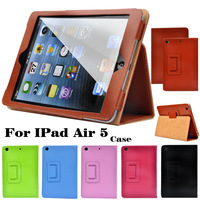 For ipad Air 5 Litchi Flip PU Leather Smart Magnetic Open Close Sleep Wake Up Case For apple new ipad5 Retina Stand Pouch Cover
