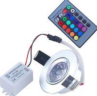 3W RGB 16 Colors LED Light Bulb Lamp Spotlight 85-265V + IR Remote Control ,3w rgb downlight