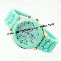ON SALE!500pcs/lot Fashion Geneva Jelly Quartz Watches Men Women Wrist Watch Candy Colors Sports Silicone Watch Free Shipping