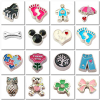 Free shipping 50 pieces Assorted Mixed (Or choose your favorite styles)  wholesale latest popular jewelry floating charms