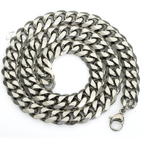 3/5/7/9/11mm Stainless Steel Curb Cuban Chain Necklace Mens Gift Chain Personalized Wholesale Jewelry 18-36inch LKNM07