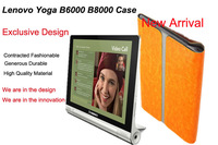 LENOVO YOGA 8 inch case B6000 Buy1 Get2 FREE shipping Tablet real leather high quality cover+Free screen protector Free shipping