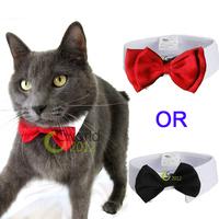 White/Black White/Red Dog Cat Bow Tie Collar Cute Puppy Necktie Accessory Wedding Party Adjustable Bowtie