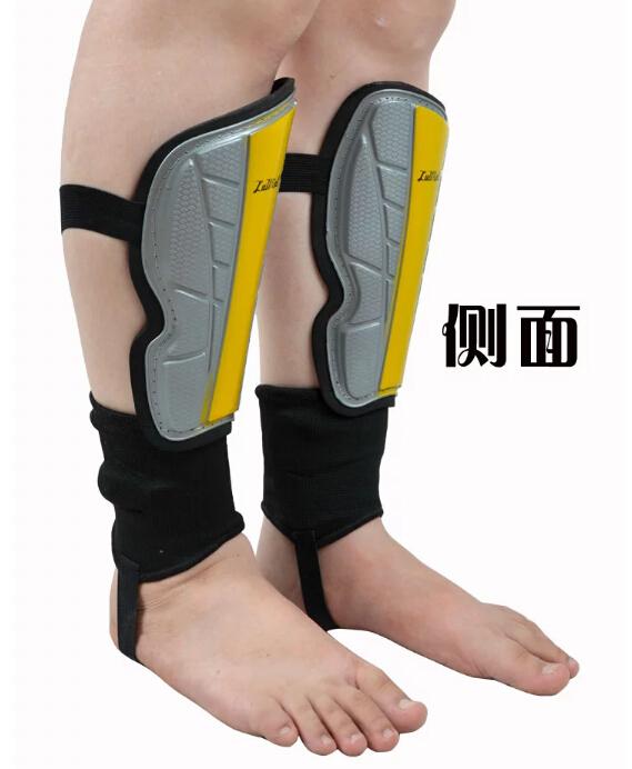 1pair! Men&Boys Professional 5mm Soccer Shin Pads Shin Leg Guard Football Shin Pads Football Knee Safety with ankle guard PP+EVA(China (Mainland))