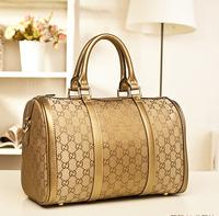 new 2014  designer handbags high quality Phalanger women's handbag cylinder gold bag cloth bucket handbag messenger bag casual