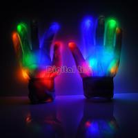 [New] Funny Led Optical Fiber Magic Gloves Led light Gloves Light Finger Lighting Glow Flashing Mittens Magic Gloves TK1207