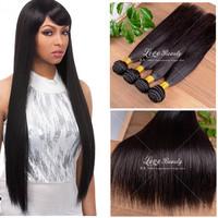 Peruvian virgin hair straight 3pcs best quality 6a virgin hair peruvian straight virgin hair  free shipping human hair weave