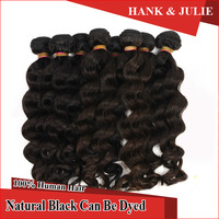 Unprocessed Brazilian Loose Wave Hair 10 bundles lot 6a Wet and Wavy Real Brazilian Braiding Hair Loose Wave Hair Weave