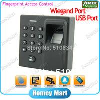 Free shipping USB Port Wiegand X1 Small 86 Design 125KHz RFID Security Biometrics Standalone Fingerprint Access Controller