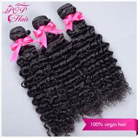 Ali POP Hair Brazilian Deep Wave 100%Human Hair Extension Cheapest Brazilian virgin Hair Bundles 8''-30'' natural black hair