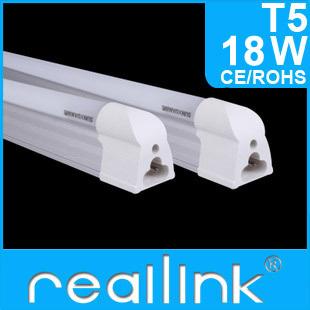 Reallink FedEX Free shipping 15pcs/Lot Led Tube T5 18w 1200mm /1.2m 85-265V 2400LM Led Fluorescent Lamp Cold White/Warm White(China (Mainland))