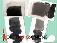 "FREE SHIPPING Top Closure Lace Top Closure Swiss Lace 4""*4"" Body Wave No Shedding Tangle Free"