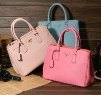 2014 wholesale  Designer prado bags women  shoulder handbag Cowhide genuine leather women bag