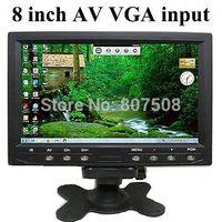 8 inch TFT LCD car rear view monitor with VGA AV input, 800*480 RGB 60Hz car video monitor