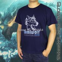 New 2014 men's designer brand fashion short-sleeve t shirts sports T-shirt L-XXXXL large size Printed Wolf Head Free shipping