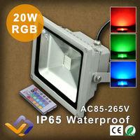 20W IR remote control LED Flood Light RGB colorful led Floodlight Outdoor Landscape Lighting For Garden Street Square