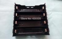 "2014 New 5pcs/lot Black Plastic Battery Holder Case Storage Box for 4*18650 holder 14.4V"" without Wire 18650 battery holder diy"