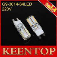10Pcs/Lot High Lumen Mini Chandelier Spotlight AC220V 6W G9 Led 3014SMD Non-polar LED Solar Bulb Crystal Lamps Solar Pendant