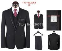 2014 (Jackets+Pants) 2014 New Full Men Suits Slim Custom Fit Tuxedo Brand Fashion Bridegroon Business Dress Wedding Suits Blazer