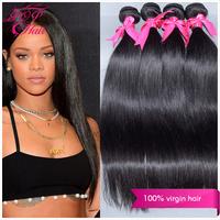 Ali POP Hair brazilian virgin hair straight 3pcs lot , cheapest brazilian virgin hair extension color  #1 #1b #2 #4 human hair