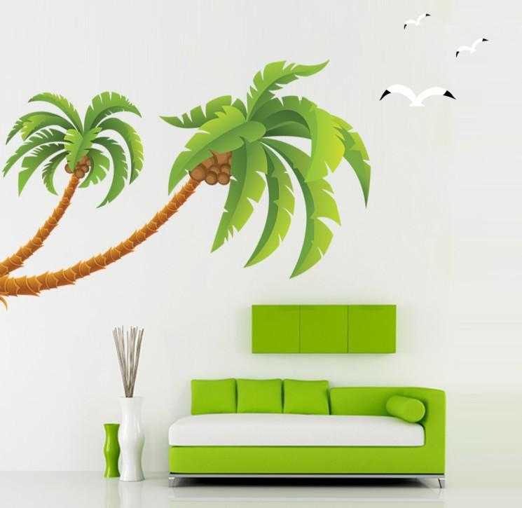 Coconut Trees scrapbook paper green instant by YouCreateDownloads