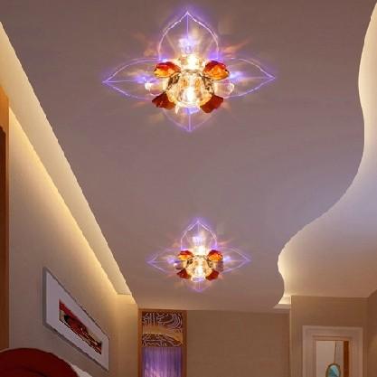 3W Modern LED Ceiling Spotlights Crystal Balcony Hallway Living Room Light Abajur Luminaria Light Fixtures AC200V 220V 230V 240V(China (Mainland))