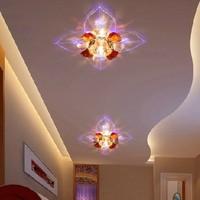 3W Modern LED Ceiling Spotlights Crystal Balcony Hallway Living Room Light Abajur Luminaria Light Fixtures AC200V 220V 230V 240V