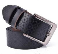 New Mens Summer Genuine Real Leather men Belt Alloy Buckle high quality fashion belt  black belt for men L3005