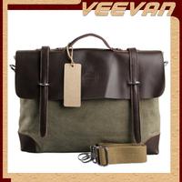 vintage men messenger bag 2014 new shoulder bag leather canvas men briefcase men handbag tote men's travel bag MBBSB00093