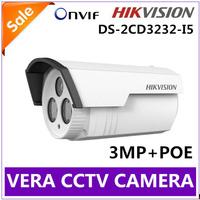 Free shipping Wholesale New Original Hikvision Camera 3MP Bullet Camera Array Network HD Kamera DS-2CD3232-I5 Onvif