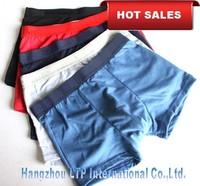 HOT SALE Wholesale Free Shipping New Men's Underwear 5 Colors Men's Boxer 93% Cotton  Boxer Solid Color Boxer 10 Pcs/Lot