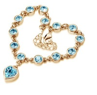 Fashion Austria Crystal Clear crystal heart  2014 new arrivals  bracelets factory price jewelry wholesales B7.5
