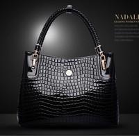New 2014 Fashion  Designer crocodile Hot selling PU leather women's handbag Tassel Bag Shoulder 3 Colors Gift  AR910 Q6