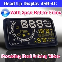 2014 New Arrival ActiSafety Universal Car HUD ASH 4C, Head Up Display, Support Both MPH and KPH, OBD2, 3 Colors, Hot CCW014C