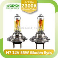 XENCN H7 12V 55W 2300K Golden Eyes Super Yellow Original Line Car Halogen Head Light Quality Auto Lamp Free Shipping