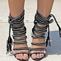2014 Ladies Sexy Lace Up Sandals,European Best Selling women Chain Sandals,genuine leather fashion sandals